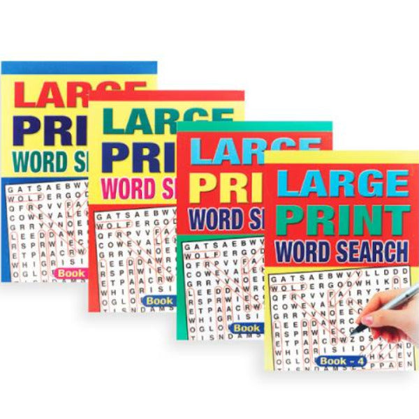 Large Print Word Search Puzzle Book A5