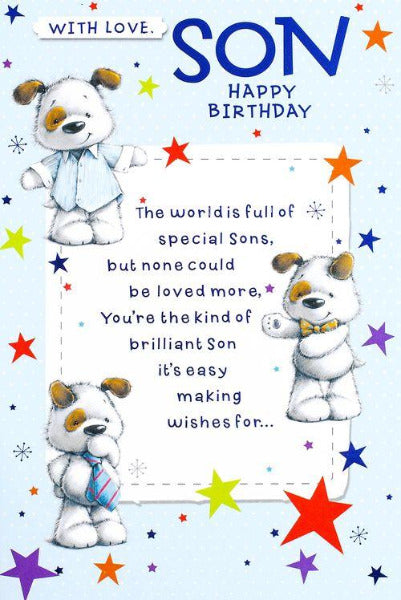 With Love Son Birthday Card 155 x 230