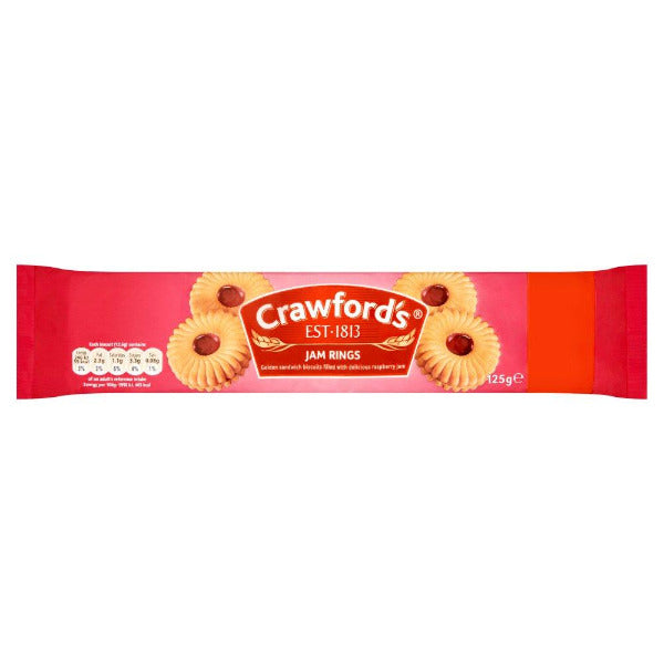 Crawfords Jam Rings 125gm