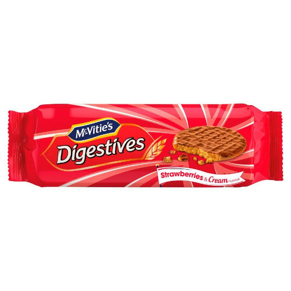 McVities Chocolate Digestive Strawberry & Cream 250gm