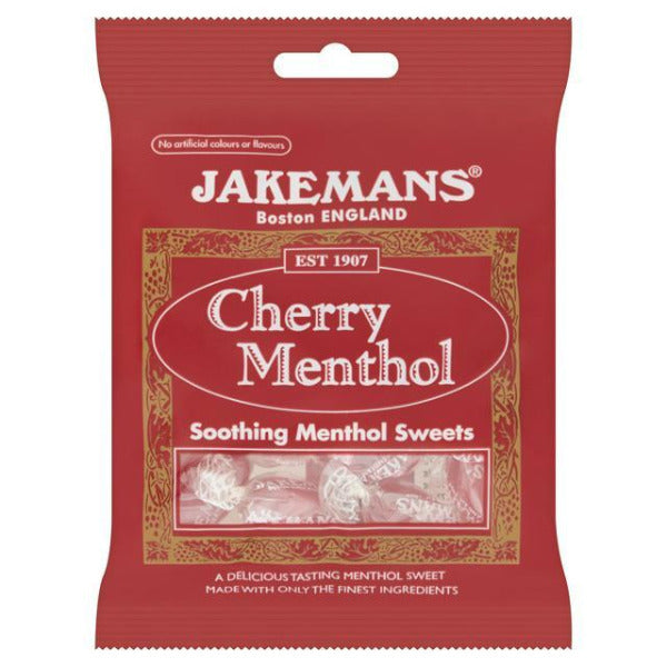 Jakemans Cherry Menthol Sweets 100gm