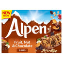 Alpen Fruit & Nut With Chocolate 5 Pack 95gm