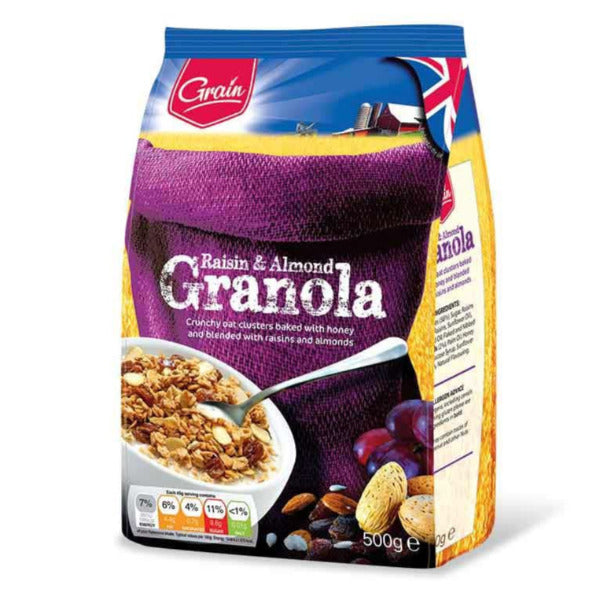 Grain Raisin & Almond Granola 500gm