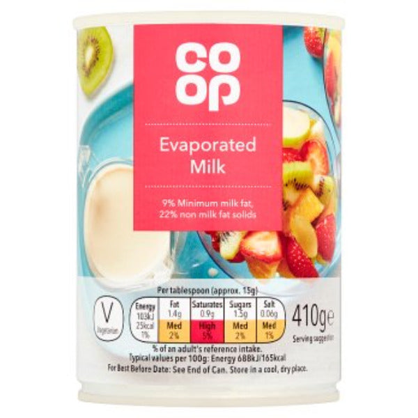 Coop Evaporated Milk 410gm
