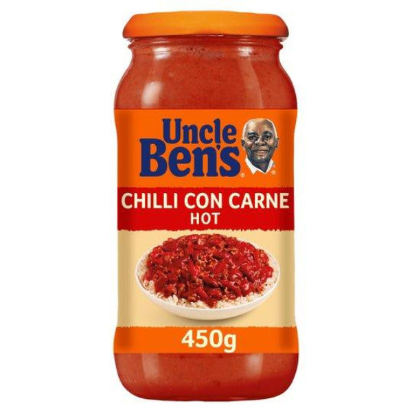Uncle Bens Chilli Con Carne Cooking Sauce Hot 450gm