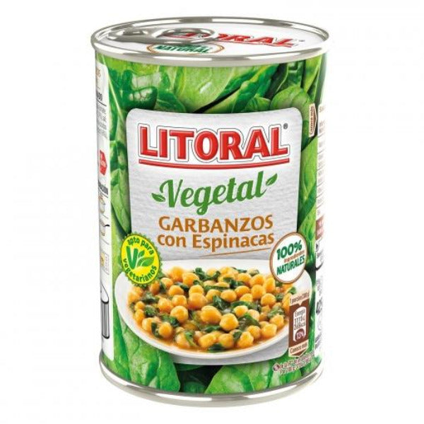 Litoral Chickpeas With Spinach 425gm