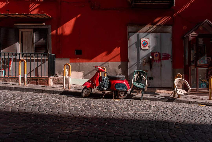 Red Old Vespa - Bram Art Photography
