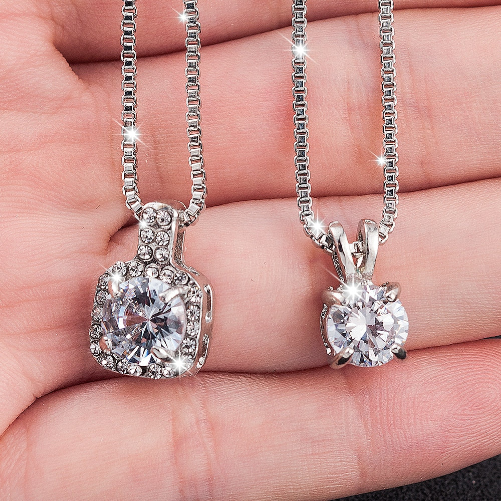 Classic Wedding Crystal Color Necklace for Women