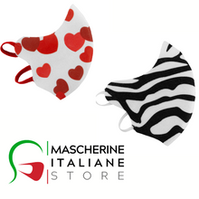 "Load image into Gallery viewer, NEW Template ""New Duck Mask"" PRINT HEARTS/ZEBRA SIZE CHILD"