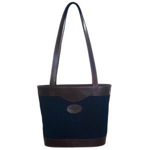 Bucket bag - Navy suede