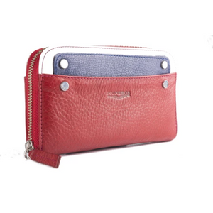 Tricolour Purse - Red