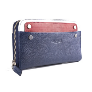 Tricolour Purse - Navy