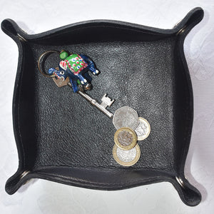 Coin Tray - Black calf