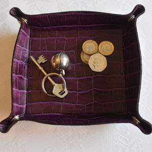 Coin Tray - Purple croc