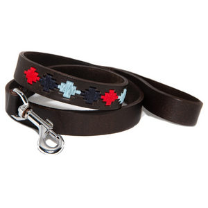 Polo Dog Lead - Pampa cross - Navy/pale blue/red