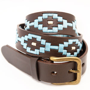 Polo Belt - Pale blue dot