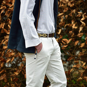 Polo Belt - Cream dot