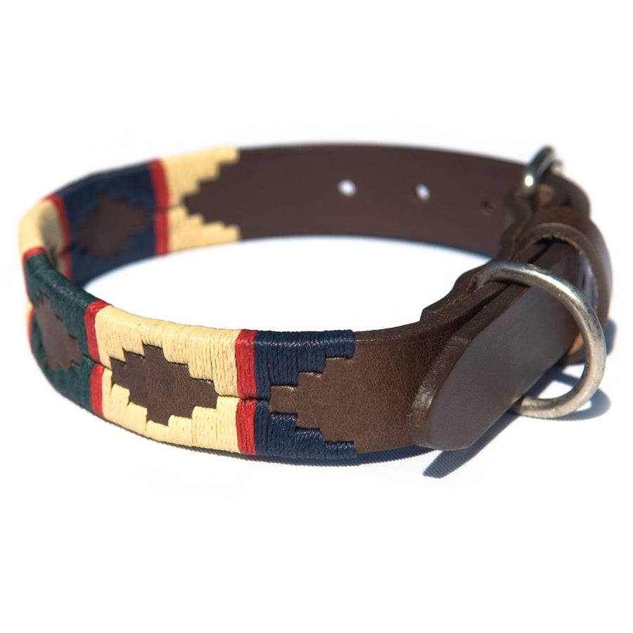 Polo Dog Collar - Red stripe