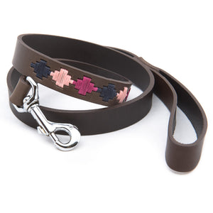 Polo Dog Lead - Pampa cross - Berry/navy/pink