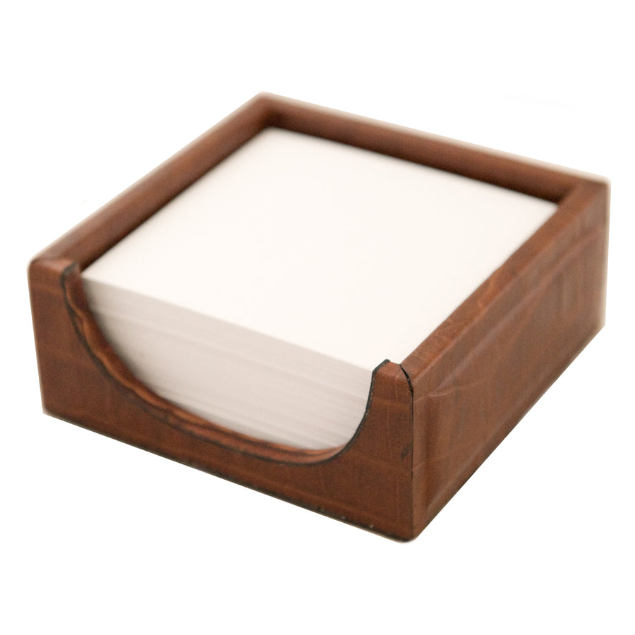 Notepad Holder - Brown