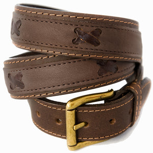 Nubuk belt - Dark brown