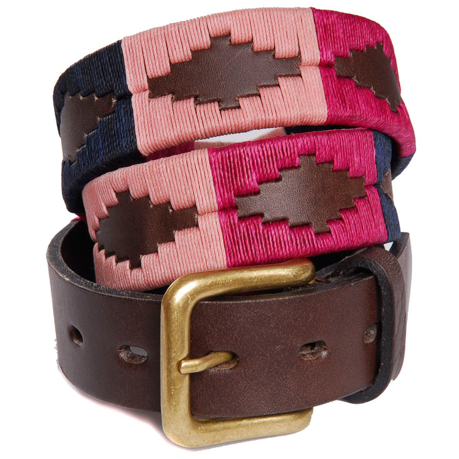 Polo Belt - Berry/Navy/Pink