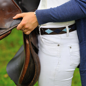 Polo Belt - Pampa Cross - Navy/pale blue