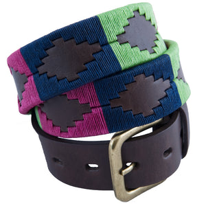 Polo Belt - Berry/navy/green