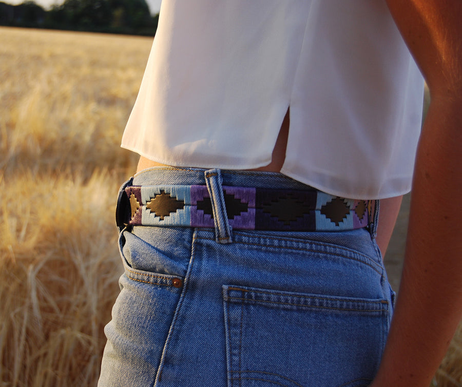 Polo belt - Pale blue/purple/violet