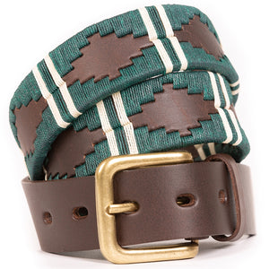 Polo Belt - Green double stripe