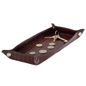 Shelf Tray - Brown croc