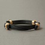 Classic Synthetic Elephant Hair Bracelet with 14KT Gold Fill X-knots