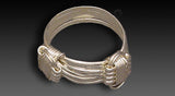Sterling Silver 2 Knot Elephant Hair Ring