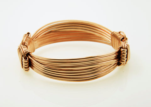 copper elephant hair bracelet classic 5 strand