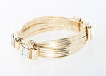 Classic Bracelet 14KT Solid Gold 4-strand with 2 Carats of Diamonds