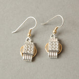 Earring CZ Dangle Small
