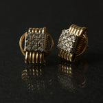 Earrings 14KT Solid Gold Stud Small with Diamonds