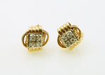 Earring 14Kt Solid Gold Stud Extra Small  with Diamonds