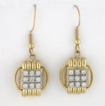 Classic 14KT Solid Gold Dangle Earrings with Diamonds