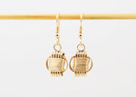 Ligthweight Earrings 14KT Solid Gold Dangle Small