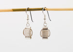 Lightweight, Sterling Silver dangle earrings, small