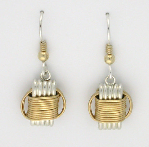 Lightweight, Two-Tone dangle earrings, small