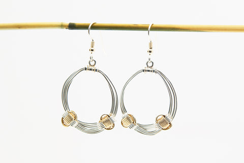 Two Tone Hoop Earring