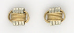 Lightweight, Two-Tone stud earrings,  extra small
