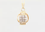 Small Pendant 14KT Solid Gold with Diamonds