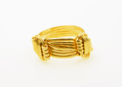 gold elephant hair ring