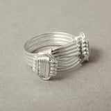 silver elephant hair ring