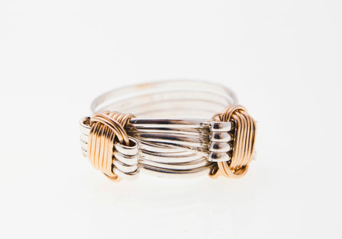 Two Tone 2 Knot Ring