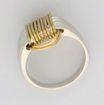 Two Tone Single Knot Ring