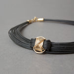 Synthetic Elephant Hair Necklace with14KT Gold Fill X-knots